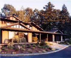 exteriors of japanese houses | Japanese inspired exterior with japanese garden asian-exterior