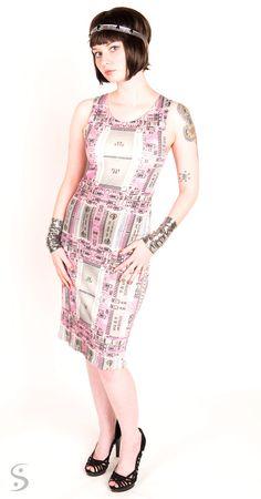 Pink Circuitboard SCSI Dress in Organic Cotton by Shenova on Etsy #circuitboard #computer #tech
