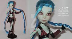 Jinx LoL | Monster High OOAK | ON SALE by Aintza-K on DeviantArt