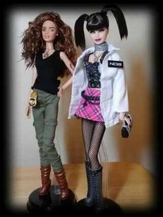 NCIS Ziva David and Abby Sciuto OOAK Artist Barbie Duo | eBay