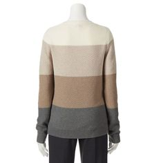 Croft & Barrow Women's Cable Knit Sweater Multi Earth Tones Beige NEW/NWT $36 R #CroftBarrow #CableKnitSweater