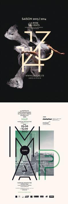 Les produits de l'épicerie : Typographic posters - #layout #poster