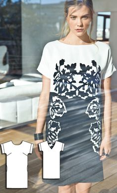 Shift Dress Burda Apr 2016 #115  Pattern $5.99: http://www.burdastyle.com/pattern_store/patterns/shift-dress-042016