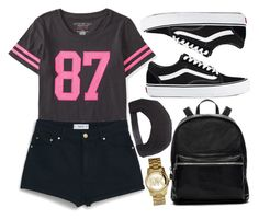 """""""!"""" by king-alysa ❤ liked on Polyvore featuring Aéropostale, MANGO, Vans, Elizabeth and James, Brixton and Michael Kors"""