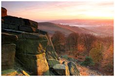 Stanage Edge at Sunset in Autumn, Peak District