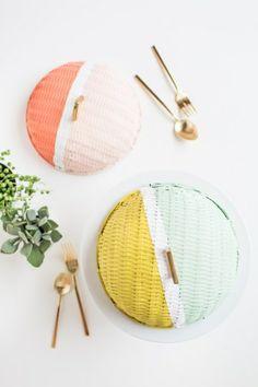 DIY colorblock food domes-276