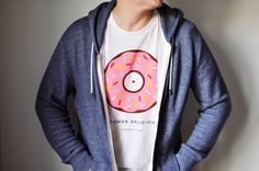 'SOUNDS DELICIOUS' PINK DONUT TEE | Turntable Kitchen