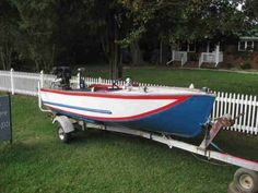 Vintage Lonestar Lone star Aluminum Boat Deep V