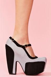 Shoes like this are simple show stoppers, and the heel looks comfortable enough to party in