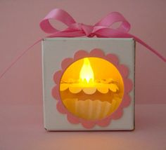 Stampin Up Product Happy Birthday Tea Light Cake Box