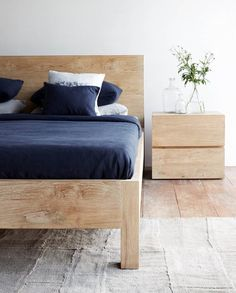 Sweet Dreams on our Priuli Bed, available in whitewash or natural.  Shop Now! http://originals.com.sg/products/priuli-bed-whitewash