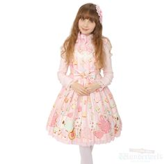 Wonder cookies dress Brand: Angelic pretty ¥ 18,990 tax No notation size Length: 90cm Cotton: 100% Nylon: 100% Polyester: 100% Shearing: Yes Rank B: dirt-free used clothes Used Lolita clothing shop Wunderwelt in Japan http://www.wunderwelt.jp/products/detail1817.html