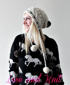 Cable Knit Pompon Beanie -  My favorite Etsy seller. Try her, she is one of the best!
