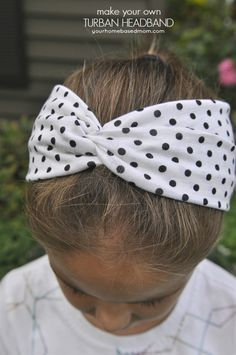 DIY Turban Headbands - so easy to make & so cute!