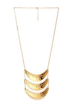 Dimpled Crescent Tiered Necklace | FOREVER 21 - 1000068037