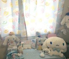 Cute Bedroom Ideas, Pretty Boy Swag, Kawaii Plush, Kawaii Room, Calming Colors, Room Interior Design, Sanrio, Bedtime, Kids Room