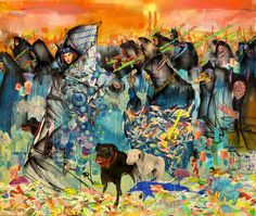 We are honored to present our art print from David Choe! David's 5 x 6' painting