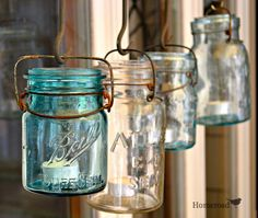 DIY Repurposed Rustic Farmhouse Canning jar Chandelier!