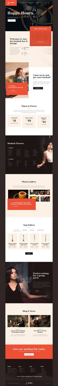 Anubia is clean and modern design 3in1 responsive WordPress #theme for #hookah #bar, #smoking lounge, #tobacco business or pub, restaurant and #cafe website to live preview & download click on image or Visit  #webdeveloper