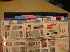 """Baseball card holder system"" for coupon organization"