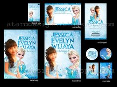 ATARO DESIGNS: Desain Ulang Tahun Anak Tema Frozen