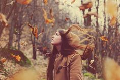 Savannah pulled her hat down over her ears as the wind picked up again, sending leaves swirling through the air. / ©Jordan Finch