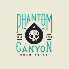 Phantom Canyon Brewing logo design typography