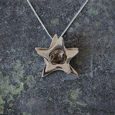 Silver Star Campo Del Cielo Meteorite Pendant