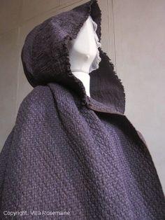 Quilted calico provencal cloak or envelope, circa 1780/1800. Villa Rosemaine