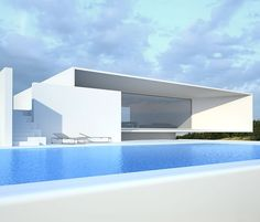 Post Modern Style Patio and Pool Exteriors - White House | Project on Behance