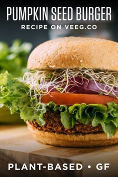 Nothings satisfies hunger like a comfy cozy bite of s delicious plant-based vegan veggie burger! There's pumpkin seeds in this recipe, which boosts the nutrients in all of the best ways that make you feel your best! This burger is #wholefoodplantbased #vegan #plantbased #oilfree #refinedsugarfree with no highly processed ingredients, and #glutenfree.