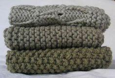 Kit~Organic Cotton Knitted Washcloths   $25.00  Pakucho Organic Cotton