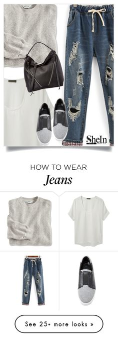 """Shein Jeans"" by tawnee-tnt on Polyvore featuring WithChic, Richard Chai Love, DKNY and Rebecca Minkoff"
