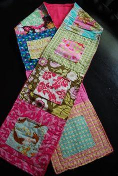Pretty quilt scarf! very inspiring