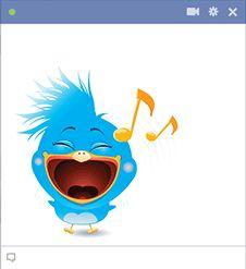 Musical bird for Facebook