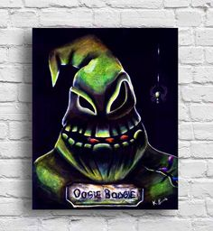 oogie boogie nightmare before christmas tim burton wall art 8x10 print halloween - Nightmare Before Christmas Wedding Rings