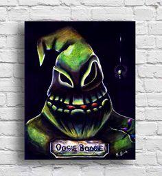 Oogie boogie, nightmare before christmas, tim burton, wall art, 8x10, print, halloween, by HeySmukke on Etsy