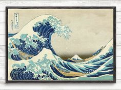Great Wave Of Kanagawa, Katsushika Hokusai,Vintage Print,Japanese Wall Art Poster,Home Decor,Japanese Print,Vintage Japanese Art Print #P327 COLORS AND SIZES You can choose between 27 different colors and 9 different sizes. If you would like a differnt size or would like a different color, please contact me directly for pricing. WHY CHOOSE OUR PATENT? I personally select each patent and do digital restoration. All patent are restored and digitally enhanced to remove most imperfection and…