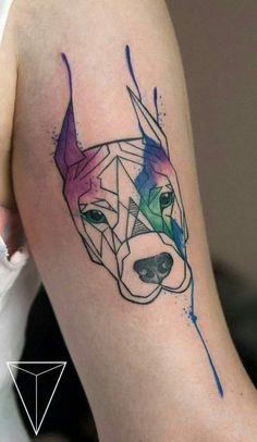 dog tattoos on arm with watercolor - Tap the pin for the most adorable pawtastic fur baby apparel! You'll love the dog clothes and cat clothes! <3