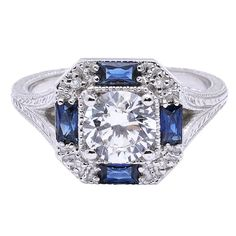 Diamond and Sapphire Ring available at Houston Jewelry!