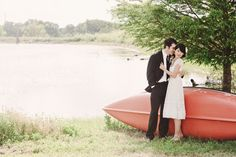 From the index card guest book to the 'fancy bbq' wedding reception, there's a whole lot to love about this vintage inspired brunch wedding by Nessak Photograp… Canoe Wedding, Small Intimate Wedding, Intimate Weddings, Cottage Wedding, Dc Weddings, Small Weddings, Prom Dresses Long With Sleeves, Wedding Trends, Wedding Ideas
