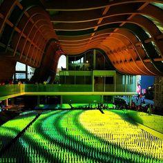 Installazione luminosa nel Padiglione Cina. #Expo2015 Light installation inside China Pavilion. Repost @wanderlust.80