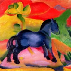 Franz Marc - Little Blue Horse