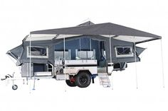 Classic Double Black Series Camper Trailer Off Road Camper Trailer, Camper Trailers, Tiny Trailers, Jerry Can, Black Series, Lounge Areas, Caravans, The Struts