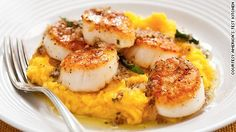 Scallops on a butternut squash bed. For when you don't feel like turkey.