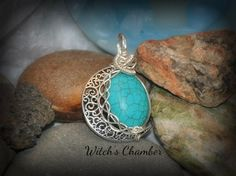 Turquoise Moon by WitchsChamber on Etsy