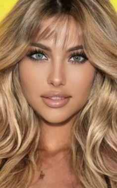 Most Beautiful Faces, Beautiful Lips, Beautiful Women Pictures, Stunning Eyes, Beauty Full Girl, Beauty Women, Blonde Beauty, Hair Beauty, Girl With Purple Hair