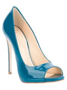 Blue patent leather pump from Giuseppe Zanotti
