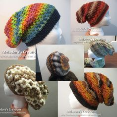 10 Slouch hat Crochet Patterns with video tutorials - Meladora's Creations