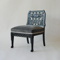 Egyptian Influence Hearth Chair  by Lovick & Lanphier
